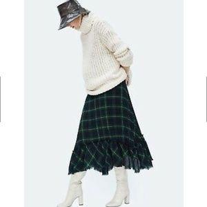 NWOT/ZARA Pleated Skirt/XS